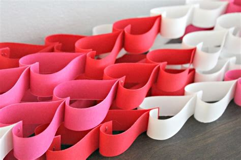 How To Make Paper Chain Hearts - s day craft paper chain directions not