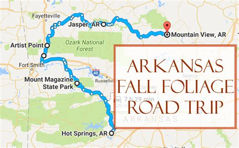 kentucky foliage map take this fall foliage road trip to see arkansas like