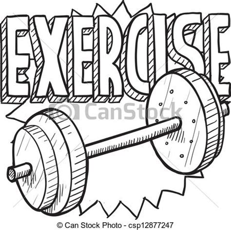 doodle drawing exercises workout clipart clipart suggest
