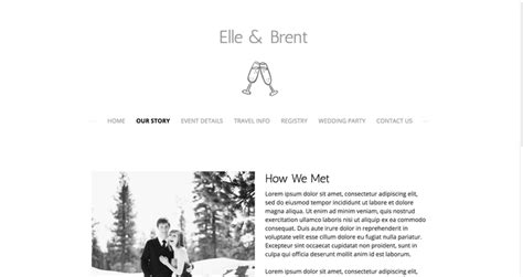 Wedding Websites Exles by Wedding Website Our Story Wedding Ideas 2018