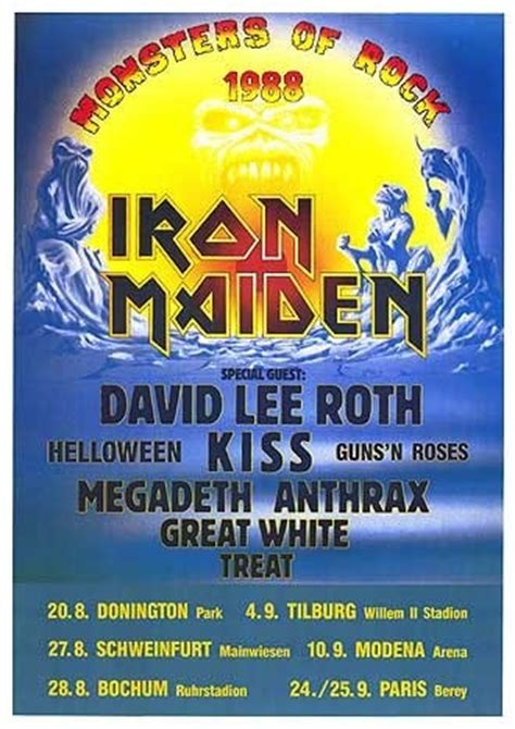 bazzi setlist monsters of rock the netherlands 1988 tilburg line up