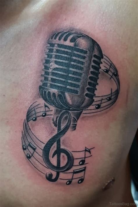 microphone tattoo designs 44 magnificent tattoos on chest