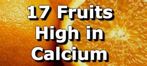 fruit high in calcium 17 fruits high in calcium