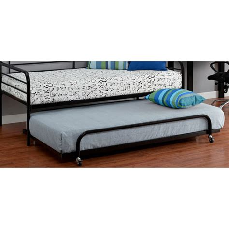 trundle bed walmart twin metal daybed trundle black walmart com