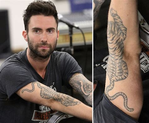 adam levine tiger tattoo adam levine tiger detail tattoomagz