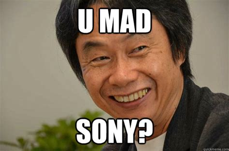 U Mad Meme - u mad sony miyamoto troll face quickmeme