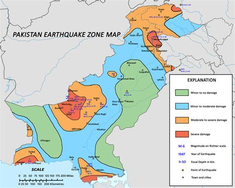 Earthquake Zones In Pakistan | list of earthquakes in pakistan wikipedia