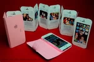 iphone ribbon flip greeting card creative pop up cards
