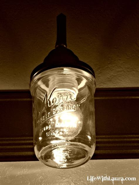 jar bathroom light fixture take an light fixture add jars and create your