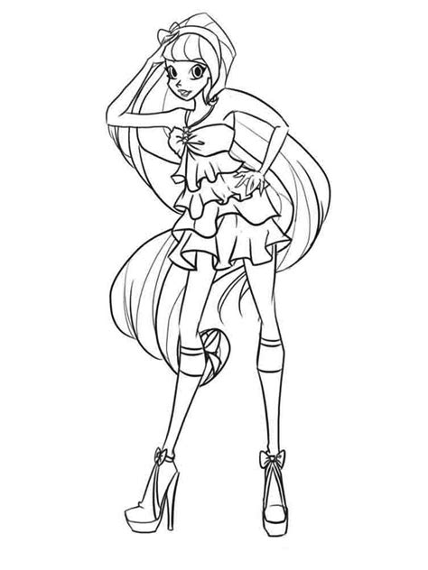 stella winx coloring pages download and print stella winx