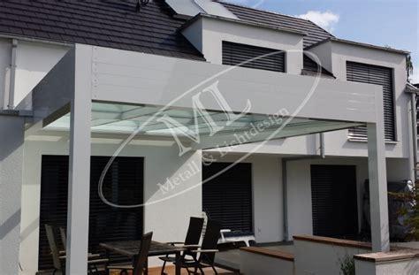 terrassendach glas aluminium terrassen 252 berdachungen vord 228 cher ml metall lichtdesign
