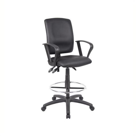 Leather Drafting Chair by Pemberly Row Multi Function Leather Drafting Chair With