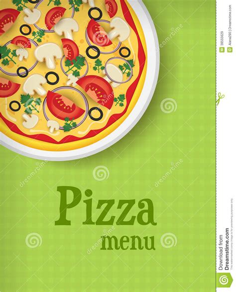 menu background with pizza stock vector illustration of