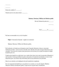Modèles De Lettres Administratives Pdf Mod 232 Le De Lettre Contestation D Une Amende Courrier Type Word