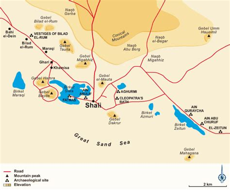 oasis map siwa shali travel safari in western desert siwa map