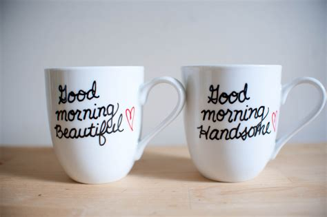 His & Hers Coffee Mugs Good Morning Beautiful and