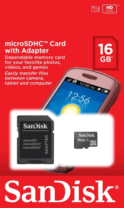 Micro Sdhc Sandisk sandisk 16gb micro sdhc card