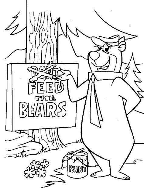 Yogi Bear Free Colouring Pages Yogi Coloring Pages