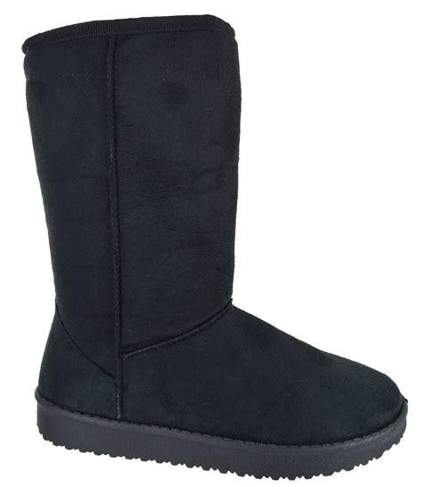 hugs boots womens mid calf warm winter fur lined snugg hug