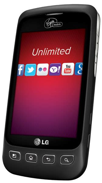 amazoncom lg optimus v prepaid android phone virgin