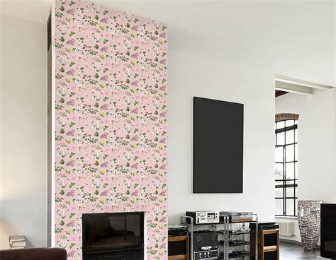 self adhesive wallpaper self adhesive pink floral pattern wallpaper contemporary