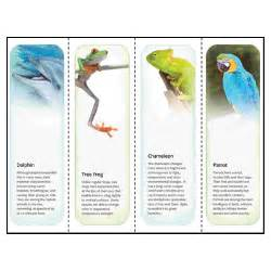 bookmarks templates for publisher animal printable bookmarks template for microsoft publisher