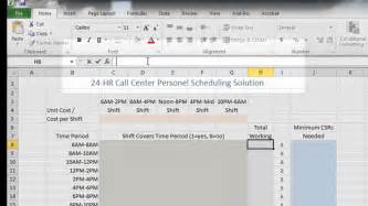 call center staffing and cost reduction using excel youtube