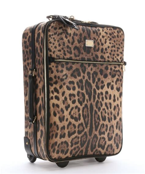Kaos Zipper Tosca lyst dolce gabbana leather trimmed leopard print coated canvas rolling luggage