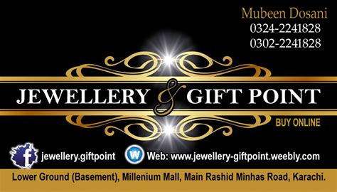 Gift Shop Visiting Card - jewellery giftpoint home