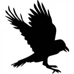 raven outline wall sticker animal wall art