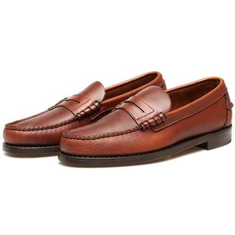 brown leather loafers sebago classic brown leather loafers in brown for