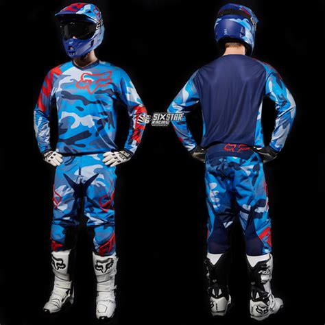 fox motocross kits 2015 fox 180 camo blue jersey pant motocross gear kit