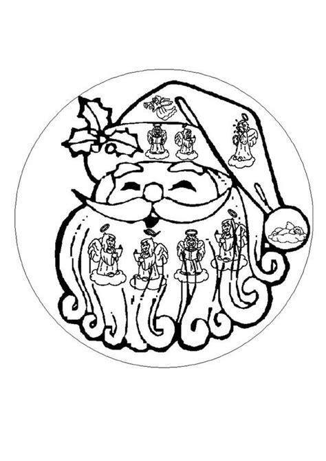 dibujos de navidad mandalas para colorear dibujos para colorear mandala cara de santa es hellokids com