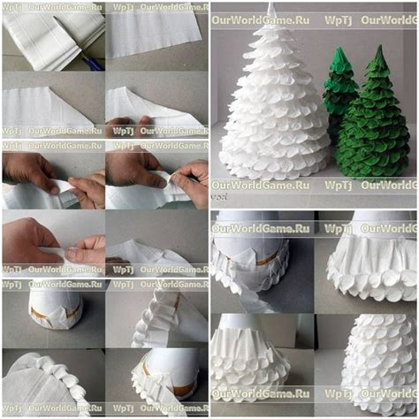 step by step chrismas craft how to make corrugated paper tree step by step diy tutorial how to how