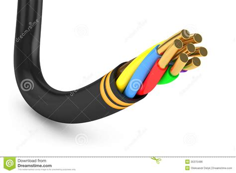 black electrical cable royalty free stock image image
