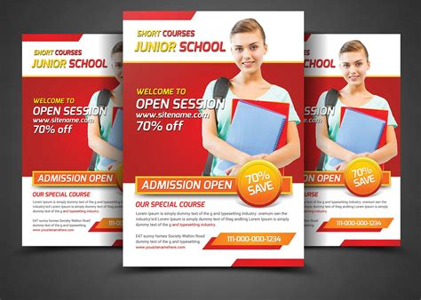 school education flyers template flyer templates