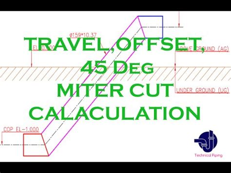 Plumbing Formula For A 45 Degree Angle by Piping Travel Offset Run Angle 45 Deg Miter Cut