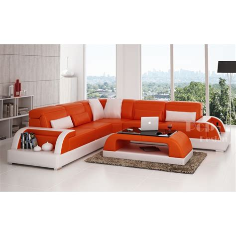 canape d angle orange canap 233 d angle design en cuir bolzano l pop design fr