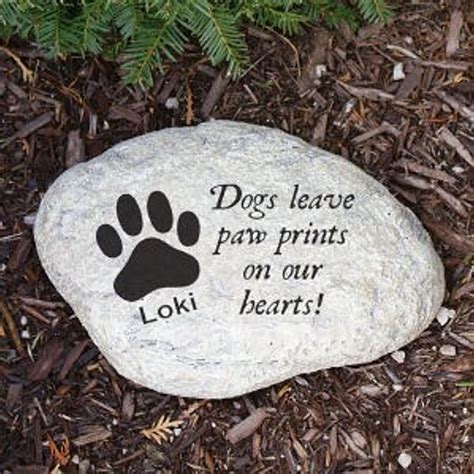 Decorative Stepping Stones Home Depot Personalized Dog Memorial Stepping Stone Pet Memorial