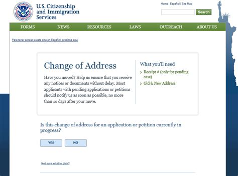 stay in touch with uscis change your address uscis
