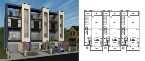 thurman townhomes beegan architectural design