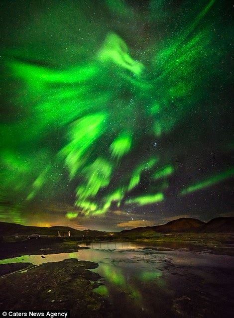 how are the northern lights formed the northern lights take on the form of a phoenix over