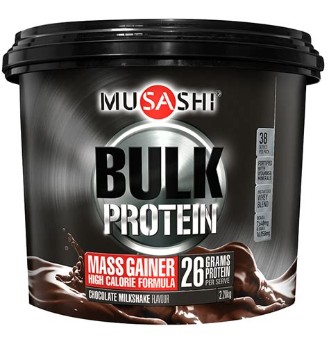 Bulk Protein musashi bulk mass gain protein powder musashi quality performance nutrition