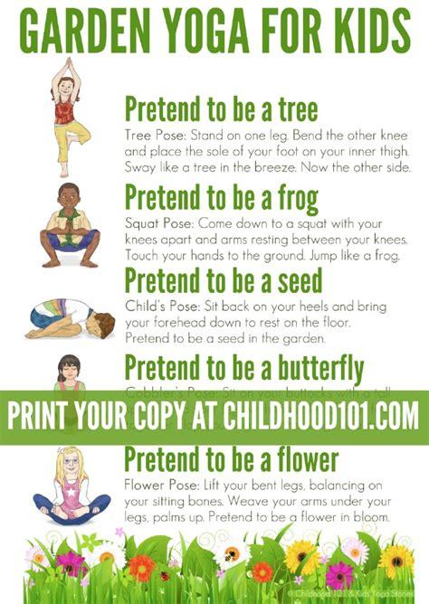 printable poster images yoga for kids a walk through the garden