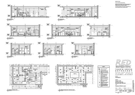 hotel kitchen design layout tech red boutique hotel taariq arend archinect