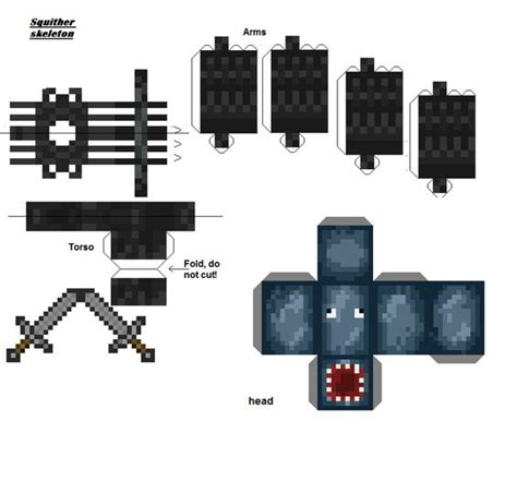 Minecraft Papercraft Iballisticsquid - papercraft squither skeleton made up n8 s epic