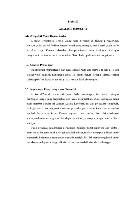membuat proposal usaha distro proposal pendirian usaha distro