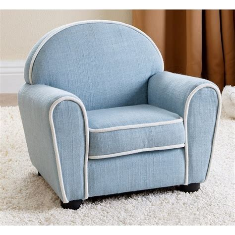 Baby Armchair by Abbyson Living Fabric Baby Armchair In Blue