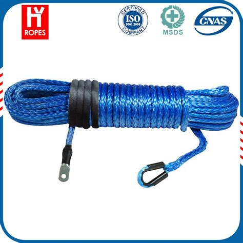 boat winch south africa hyropes hw0007 blue color synthetic winch rope south