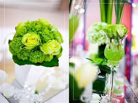 fiori verde matrimonio a tema verde acido